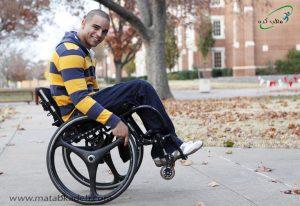 استفاده از صندلی چرخدار برای جلوگیری از خستگی در بیماران ام.اس