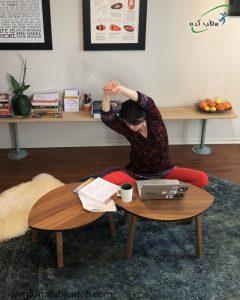 انجام کارها به صورت نشسته برای جلوگیری از خستگی