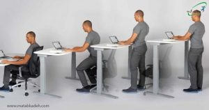 ارتفاع مناسب سطح کار برای جلوگیری از خستگی