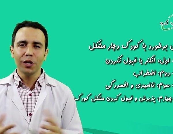 4مرحله ی مهم در برخورد خانواده با مشکل کودکان فلج مغزی،اوتیسم،سندرم داون و ...