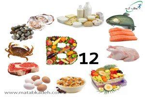 مواد غذایی حاوی B12