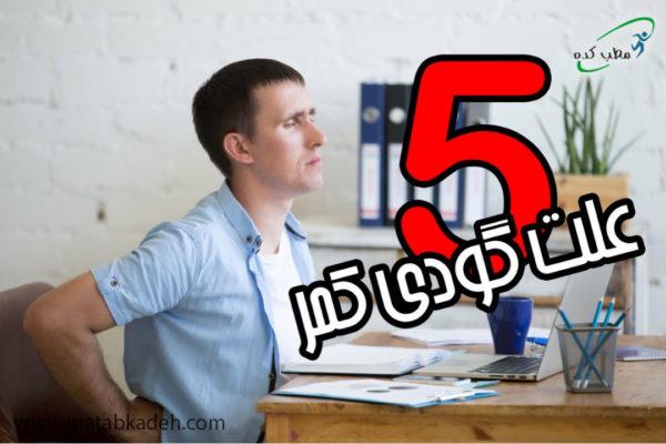 پنج علت گودی کمر